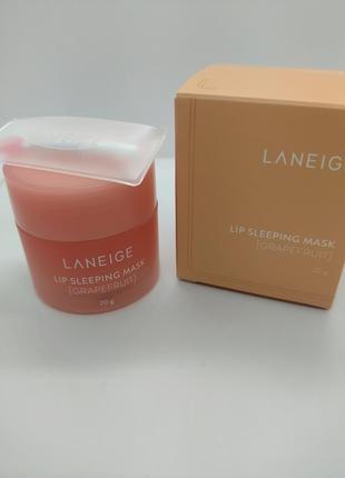 Маска для губ с ароматом грейпфрута laneige grapefruit