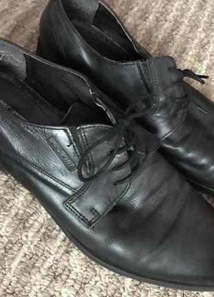 Кожаные туфли на шнурках2 фото