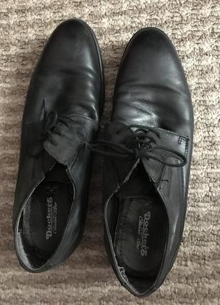 Кожаные туфли на шнурках4 фото
