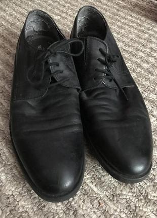 Кожаные туфли на шнурках5 фото