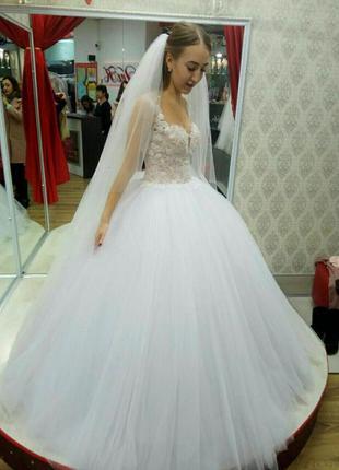 Нова весільна сукня +фата шлейф у подарунок ❤️