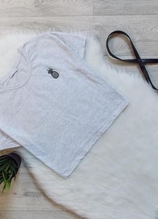 Укороченная футболка с ананасом от zara