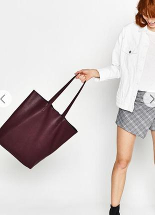 Сумка-шоппер из текстурного материала bershka