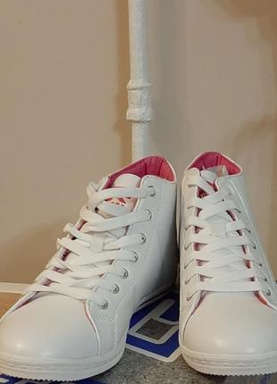 Кроссовки, кеды белые crosby 40 размер