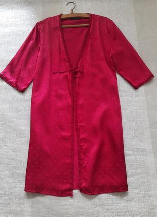 Королевский шелковый пеньюар халат 100% шелк от премиум бренда la perla