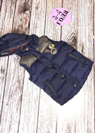 Демисезонная безрукавка rebel для мальчика 3-4 года, 98-104 см