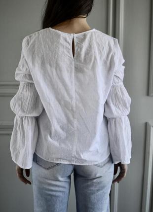 Белая блуза h/m из тонкого хлопка