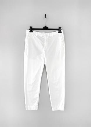 Uniqlo білосніжні класичні штани з манжетом