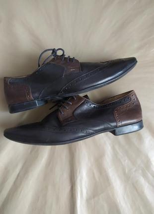 Шикарные туфли-броги.нат.кожа