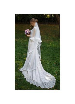 Свадебное платье. италия с 3d кружевами