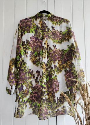 Цветочная рубашечка, блуза от topshop, размер м