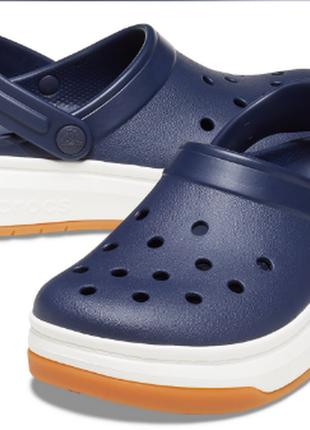 Crocs crocband full force clog navy / white мужские женские кроксы сабо