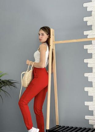 Класичні штани на високій посадці