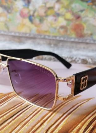 Эксклюзивные брендовые солнцезащитные очки в металлической оправе
