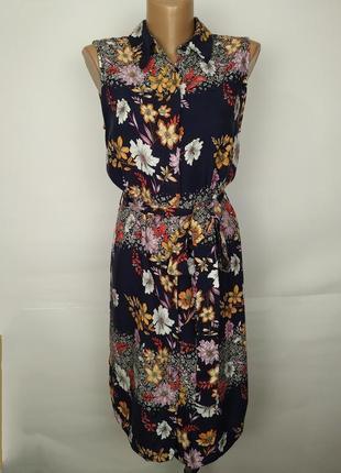 Платье модное в цветочный приyт uk 12/40/m