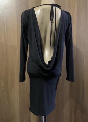 Вечернее коктейльное платье открытой спиной