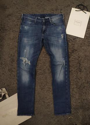 Стильные рваные джинсы armani jeans