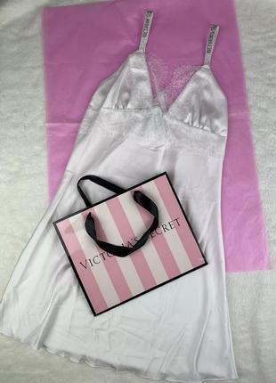 Белый пеньюар victoria's secret, нежное белье утро невесты, соблазнительная пижама