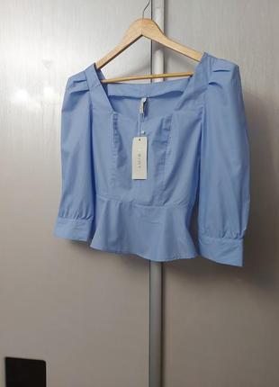Голубая блузка, топ amisu