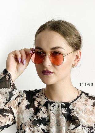 Солнцезащитные очки красные оранжевые кораловые