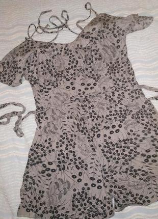 Шелковый комбинезон с шортами 100% silk.s-m