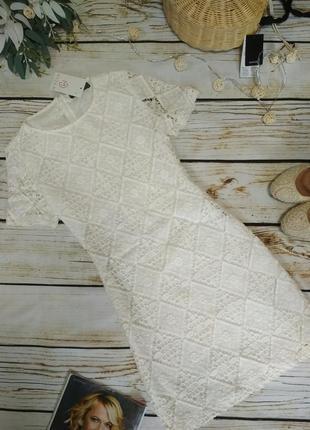 Платье летнее ажурное хлопок нарядное