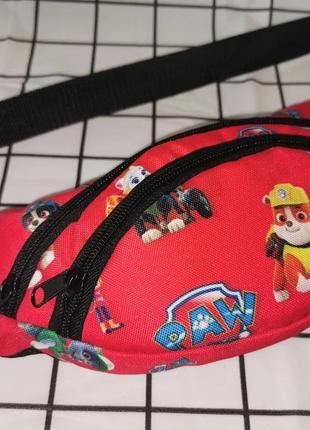 Сумка на пояс детская бананка щенячий патруль поясная сумка