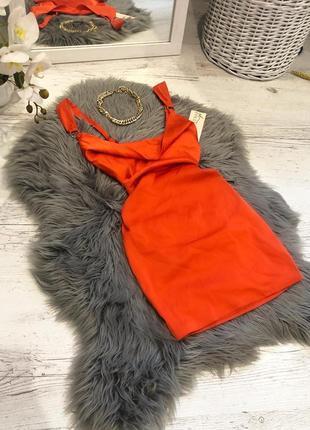Атласное шелковое платье oh polly. атласна сукня