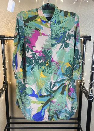 Шелковое платье-рубашка maxmara