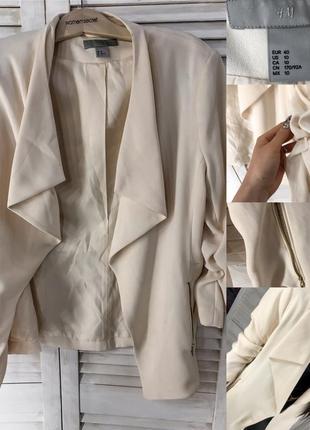 Кремовый пиджак от h&m4 фото