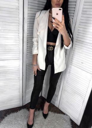 Кремовый пиджак от h&m3 фото