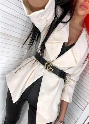Кремовый пиджак от h&m