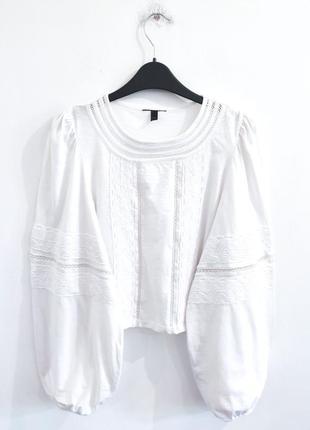 Блузка с объемными рукавами topshop