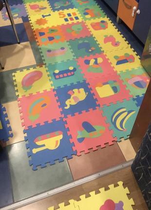 Детский термо коврик пазлы 39 штук