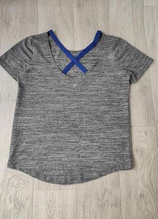 Спортивная футболка оверсайз серый меланж work out