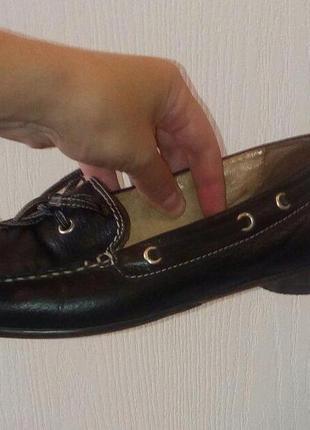 Мокасины (туфли) кожаные, размер 38