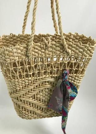 🔥 стильная плетеная соломенная сумка корзинка