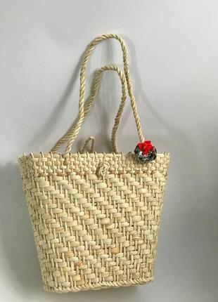 🔥 стильная соломенная корзинка сумка корзина