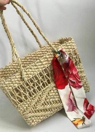 💋 стильная соломенная сумка корзинка