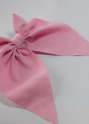 Заколка з бантиком, колір рожевий