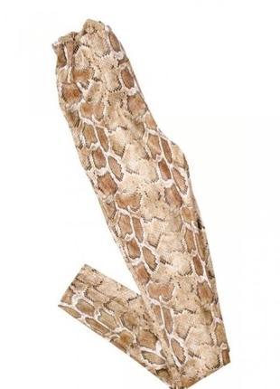 Женские лосины с принтом под рептилию