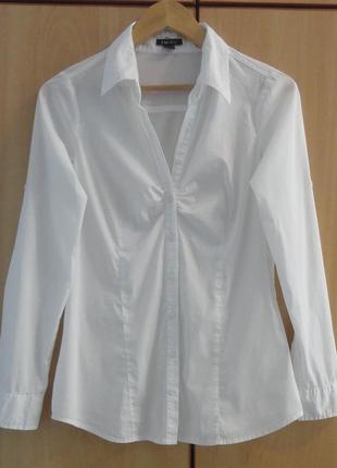 Супер брендовая белая рубашка блуза блузка хлопок