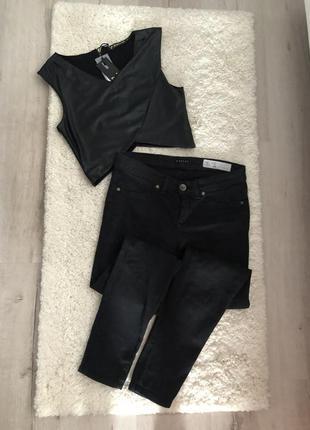 Чёрные джинсы скинни skinny
