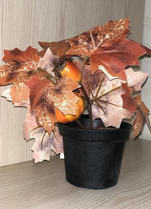 Декор цветок в горшке вазон