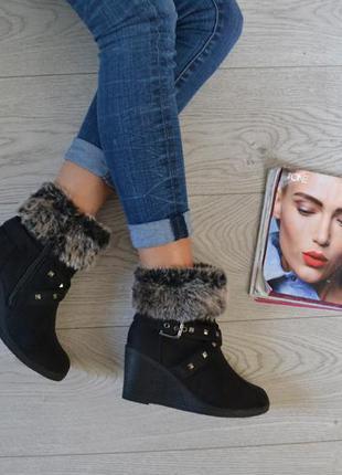 Стильные зимние сапоги ботинки