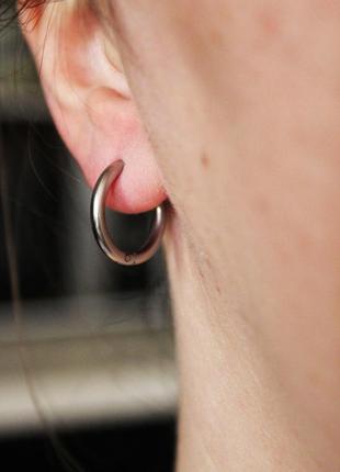 1шт 14мм крутая серьга кольцо сережки унисекс медицинская сталь