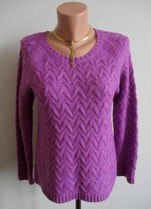 Вязаный свитер с шерстью marks&spencer