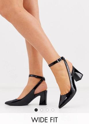 Босоножки туфли с открытой пяткой лодочки new look
