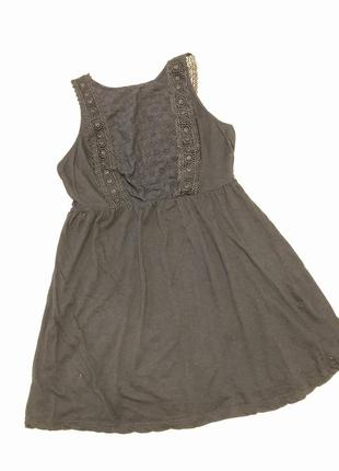 Плаття чорне котонове, розмір л/хл
