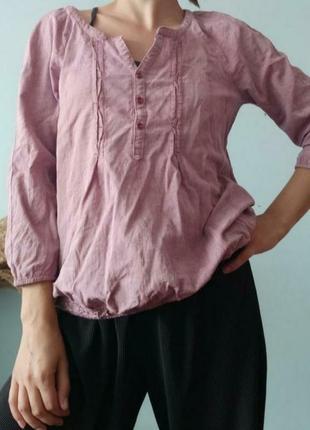 Бузкова сорочка під вишиванку size s/m